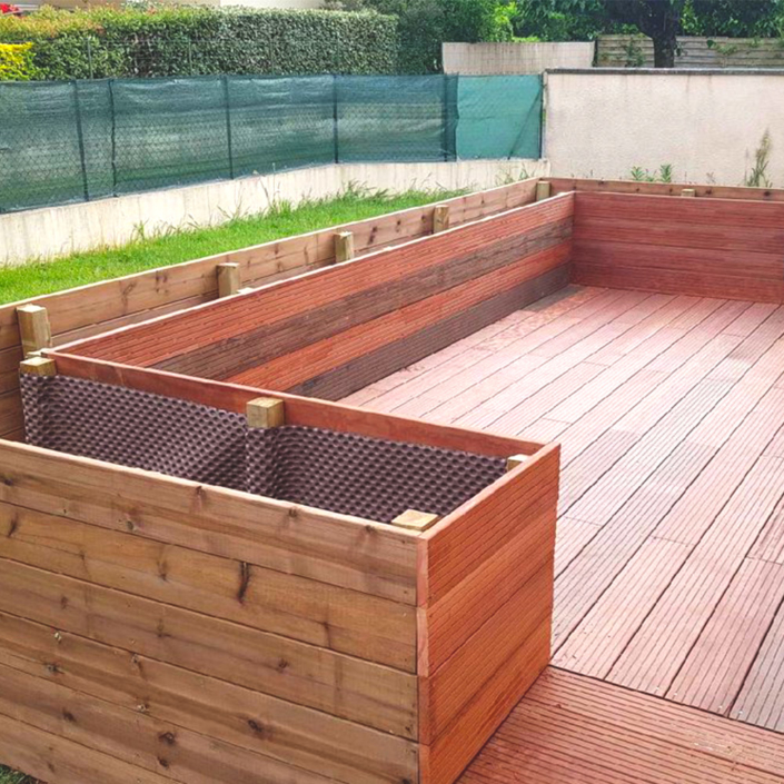 Création d'une jardinière en bois